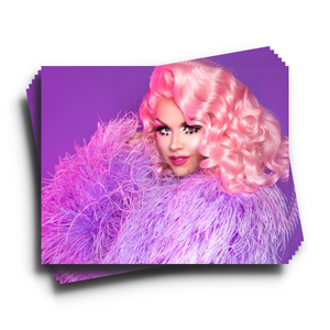 Farrah purple feather print Farrah moan merch