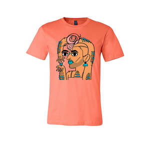 ALOK Tee T-Shirt in Coral
