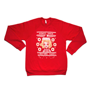"Kim Chi ""Donut Open Before XMas"" Sweatshirt - Large (Posh Pre-Owned)"
