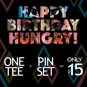 KNOCHEN (3-pin set by Hungry) + FREE T-Shirt