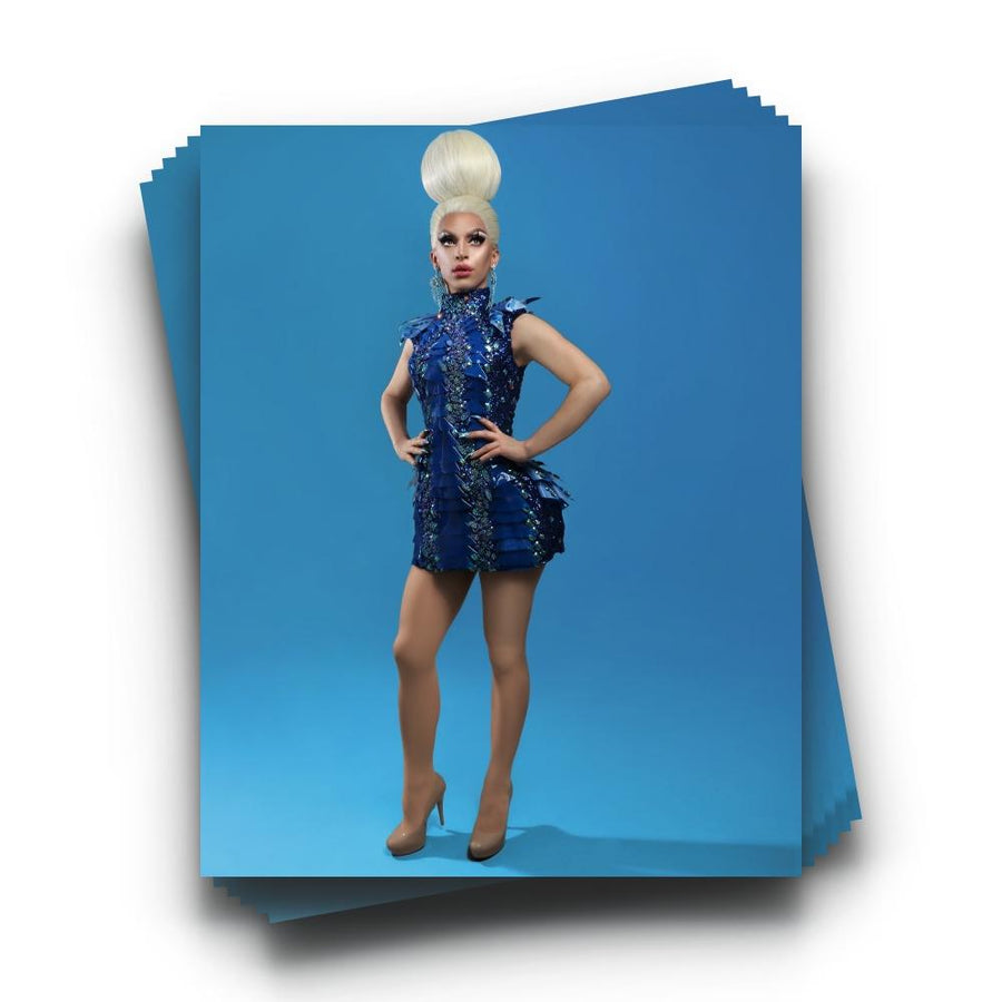 """Miz Cracker in Blue"" Print"