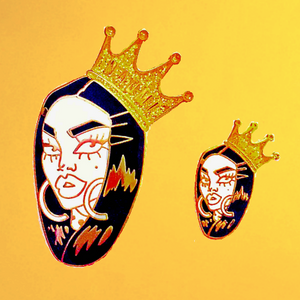 Naomi large crown pin maomi smalls merch