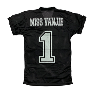 Miss Vanjie black jersey drag queen RuPaul back