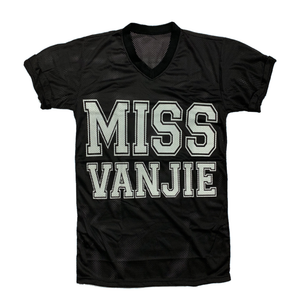 Miss Vanjie black jersey drag queen RuPaul front