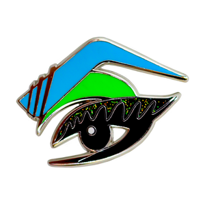 Vixen drag queen eye pin blue green limited edition
