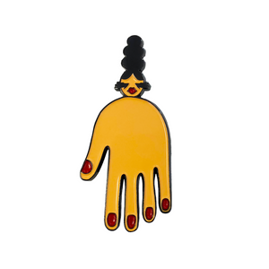 Imp queen the hand pin imp queen merch
