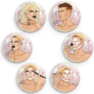 Becoming Pearl: a Button set Pearl Merch