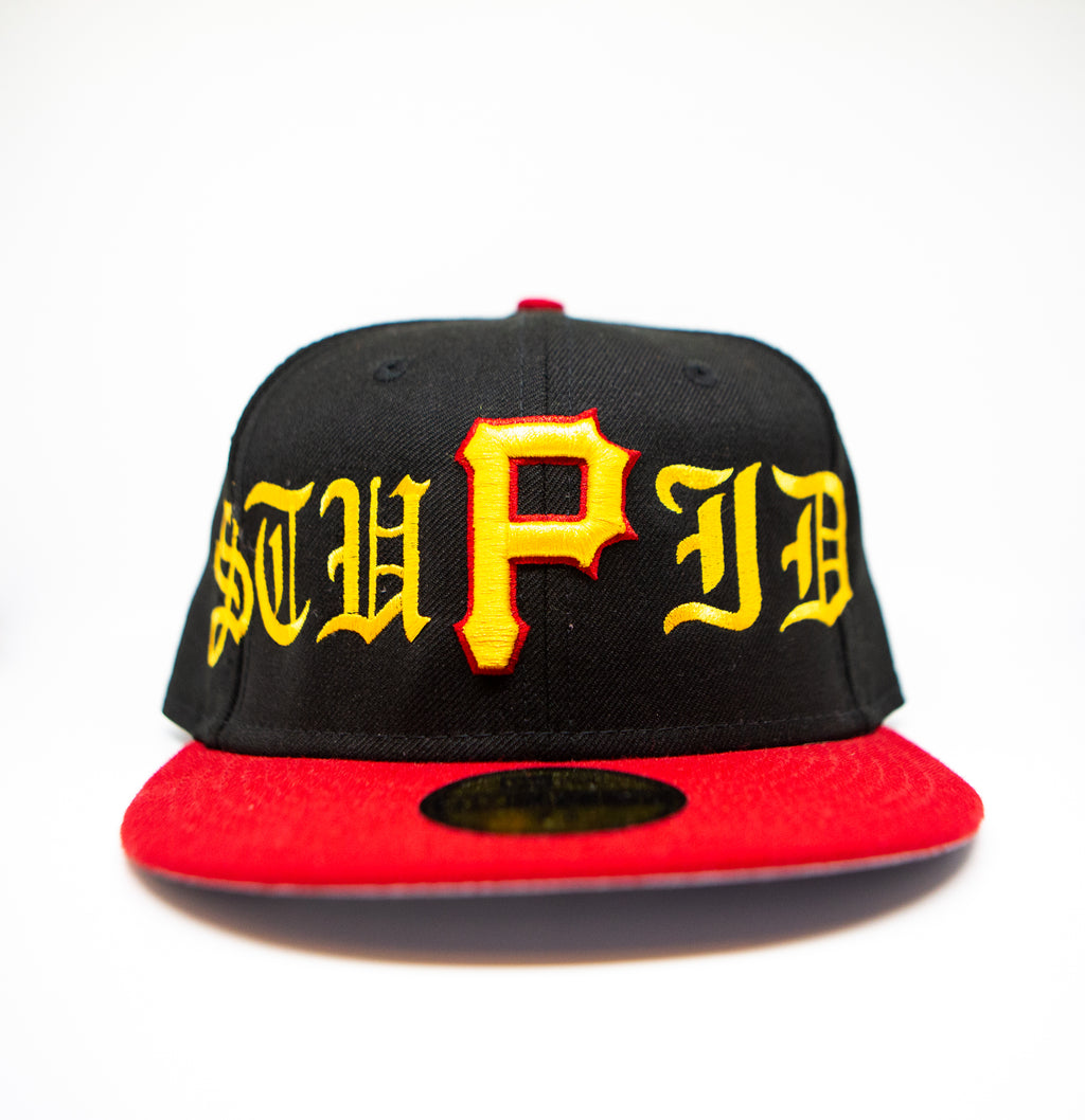 """Stupid"" Pirates Fitted Hat"
