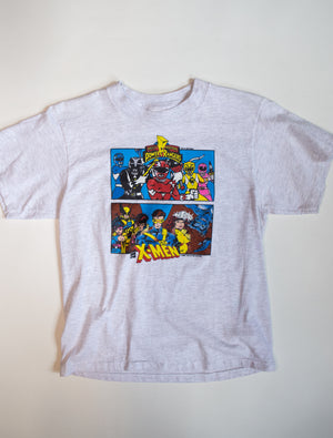 Power Rangers Mighty Morphin x X-Men Tee