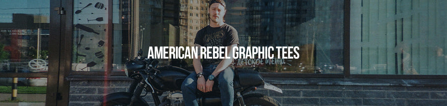 Goldinger's brand American Rebel collection is inspired by freedom, tattoos and the American outlaw spirit. All tees are 100 percent cotton, soft hand screen printed in Los Angeles since 1927
