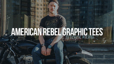 Goldinger's brand American Rebel collection is inspired by freedom, tattoo lifestyle and the American outlaw spirit. All tees are 100 percent cotton, soft hand screen printed in Los Angeles since 1927