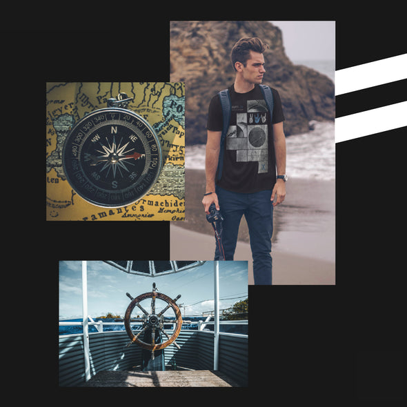 UNSCRIPTED INSPIRED BY LIFE'S UNCHARTED JOURNEY. VENTURE ALONG YOUR PATH IN THIS INSPIRED PREMIUM TEE.