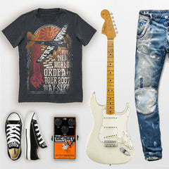 SUPER-NATURAL band style graphic t-shirt. Goldingers Brand 100% cotton jersey, short sleeve, crew neck, screen printed Vintage band Graphic Tee. Wear to your favorite live show.