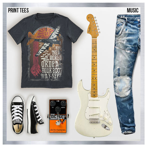 Goldinger's Brand Super Natural Band tee is the perfect gift for any music lover or music festival trip. This tee is 100 percent cotton, soft hand screen printed in Los Angeles since 1927