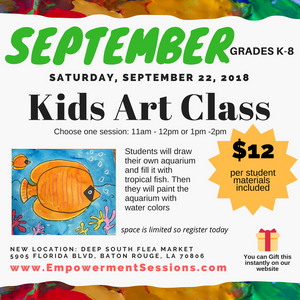 September Saturday Art Class