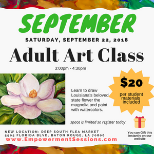 September Saturday Adult Art Class