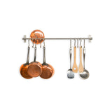 Metal Wall Mount Kitchen Rail System Pots Pans Holder Stainless Steel Space Saver Minimalism Organization Wallniture