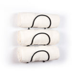MODUWINE Wall Mounted Towel Racks – Round Style – Set of 3 – Black - Wallniture