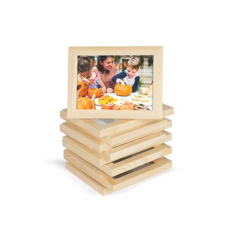 "WOODALPS Wooden Picture Frame - Set of 10 - 4"" x 6"""