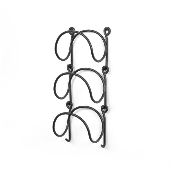 MODUWINE Wall Mounted Towel Racks – Round Style – Set of 3 – Black