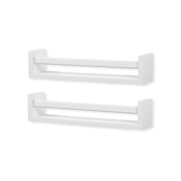 UTAH Wooden Wall Shelf – Set of 2 – White