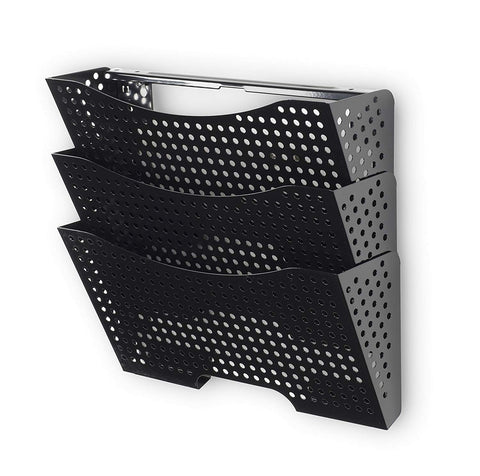 DOTS LISBON Wall File Magazine Holder – 3 Sectional – Black - Wallniture