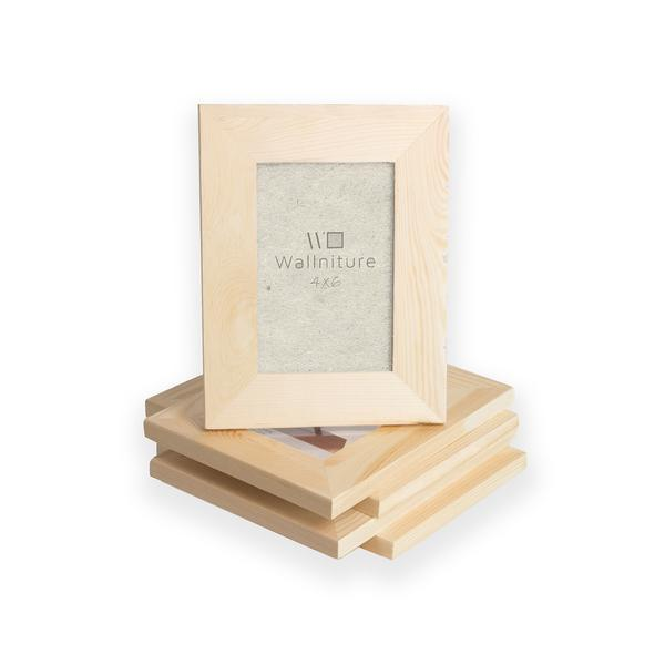 "LOGAN Unpainted Wooden Picture Frame - Set of 5 - 4"" x 6"""
