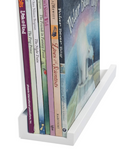 "DENVER Floating Shelves Wall Bookshelf and Picture Ledge – 14"" Length x 3.8"" Depth – Set of 4 – White - Wallniture"