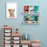 "UTAH Floating Shelves Wall Bookshelf and Nursery Decor - 24"" Length - Set of 2 - White"