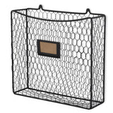 CESTINO Wire Basket for Office Decor, Wall Mount Magazine holder - Black - Wallniture