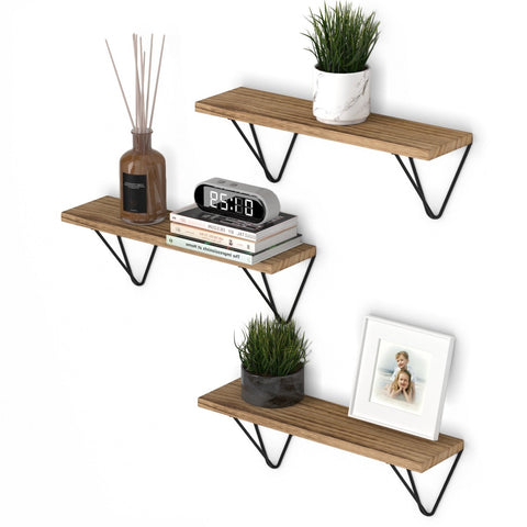 "COLMAR 17"" Bookshelf for Office Decor, Geometric Triangle Shelf for Office Storage – Set of 3 - Wallniture"