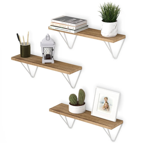 "COLMAR Bookshelf for Office Decor, Wall Mount Office Storage – 17"" Length – Set of 3 - Wallniture"