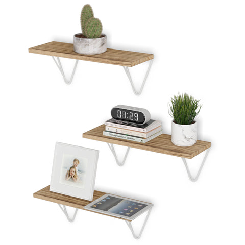 "COLMAR Bookshelf for Office Decor, Wall Mount Office Storage – 17"" x 6"" – Set of 3 - Wallniture"