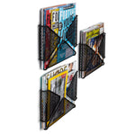 CARTA Wall Mount Wire Magazine and File Holder - Set of 3 - Black - Wallniture