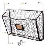 FELIC Wire Basket with Hooks - Black - wallniture