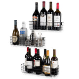 KANSAS Multi-size Wall Wire Shelves - Set of 3 - Black, White, Gray - wallniture