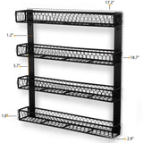 POSITANO Spice Rack - 4 Tier - Black - Wallniture