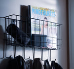 SCILY Wire Wall Organizer 6 Hooks - Black - Wallniture