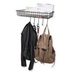 SIENA Wire Wall Organizer 5 Hooks - Black - Wallniture