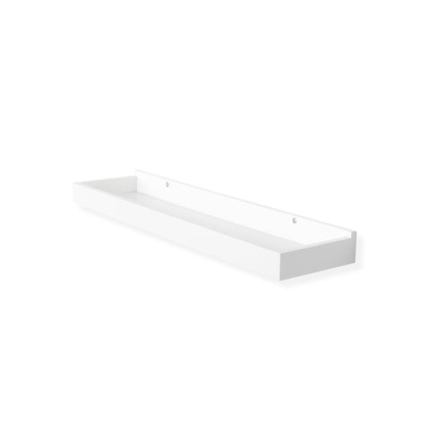 "PHILLY Floating Wall Shell and Wall Tray – 23.6"" – White - Wallniture"