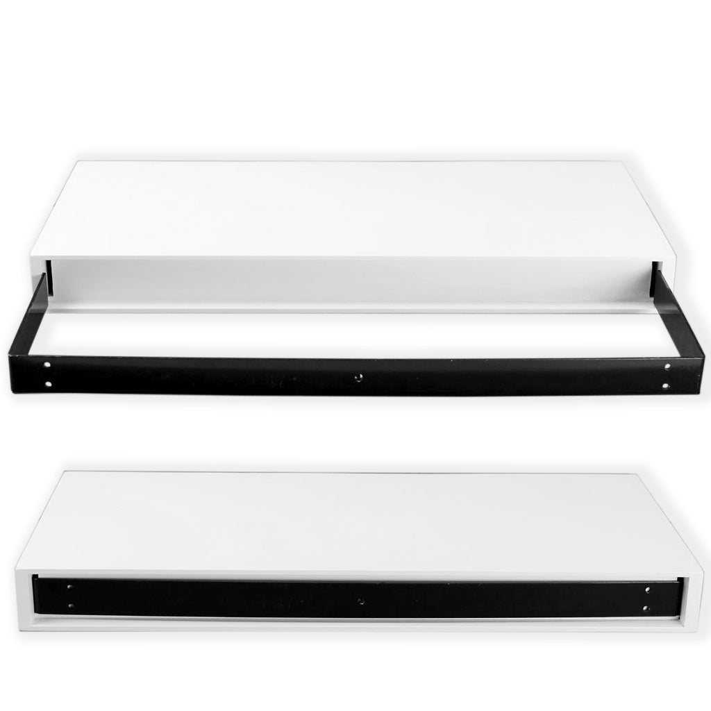 Z3 Drawer Floating Shelf and Monitor Riser – White
