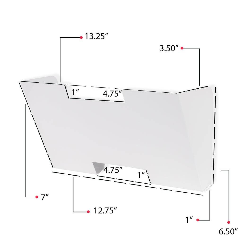LISBON Wall File Holder, 5 Sectional