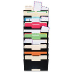LISBON Wall File Holder - 10 Sectional - Black, White, Gray - wallniture