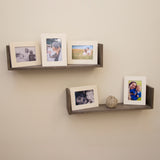 "WOODCRAFT Unpainted Wooden Picture Frame – Set of 5 – 5"" x 7"" Display"