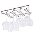 "PINOT Under Cabinet Wine Glass Rack – 4 Sectional – 10"" Depth – Oil Rubbed – Set of 1 or 2 - Wallniture"