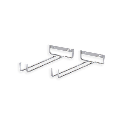 "CHIRAZ Stemware Wall Mounted Rack – 11"" Depth – Set of 2 – Chrome - wallniture"