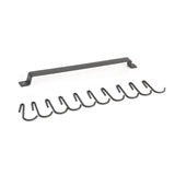"CASTO Frosty Black Kitchen Rail Rack - 17"" with 10 Hooks, 30"" with 15 Hooks - wallniture"