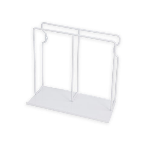 POCHE Tablet Stand Vinyl Rack File and Magazine Holder – White - wallniture