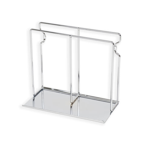 POCHE Tablet Stand Vinyl Rack File and Magazine Holder – Chrome - wallniture