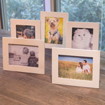 "WOODLOGAN Unpainted Wooden Picture Frame -  Set of 5  -  4"" x 6"" Display - Wallniture"
